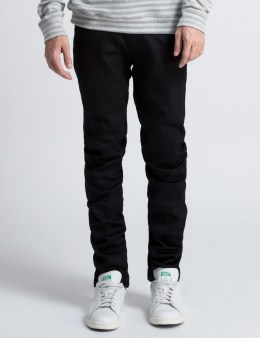Naked & Famous Dark Grey Carbon Power Stretch Super Skinny Guy Jeans Picture