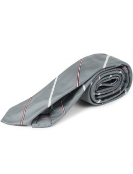 THOM BROWNE Silk Classic Necktie with RWB Pinstripe Picture