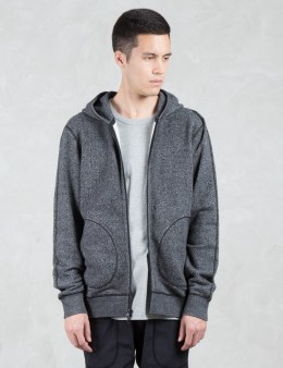 REIGNING CHAMP Tiger Jersey Zip Up Hoodie Picture
