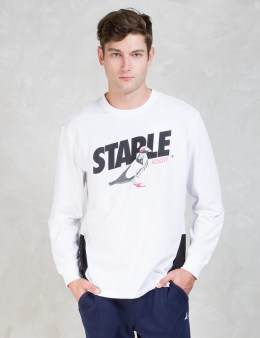 Staple White L/S Runner T-Shirt Picture