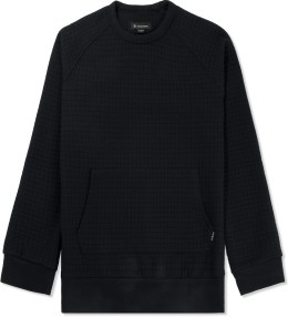 ZANEROBE Black Quilt Flight Crewneck Sweater Picture