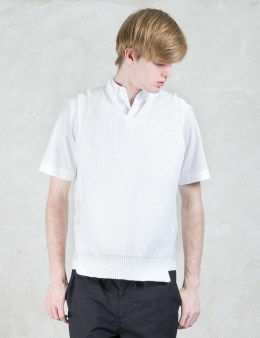 kolor Shoulder Patched Knit Vest Picture