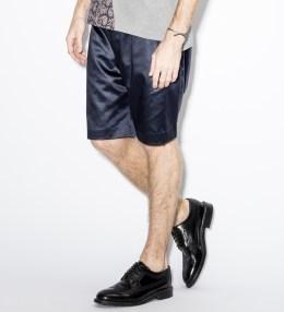 Paul Smith Black Cotton-Blend Satin Shorts Picture