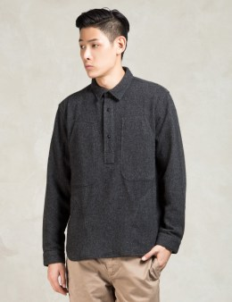 GARBSTORE Black Wool Pullover Shirt Picture