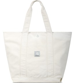 Carhartt WORK IN PROGRESS Carhartt WIP x SlamJam Putty Coated Duck Canvas Simple Tote Bag Picture