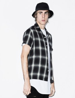 FUCT SSDD Black Ombre Check S/S Shirt Picture