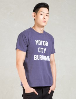 FUCT SSDD Navy Motor City Burning T-Shirt Picture