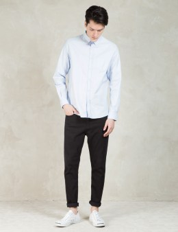 SUNSPEL Blue Long Sleeve Button Down Shirt Picture