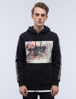 Black Scale Ballistic Moth Pullover Hoodie Picture
