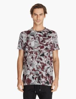 ZANEROBE Red/white Fracture Flintlock T-shirt Picture