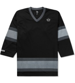 Stussy Black Mesh Hockey Jersey Picture