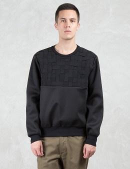 LETASCA Woven Stitch Neoprene Sweatshirt Picture