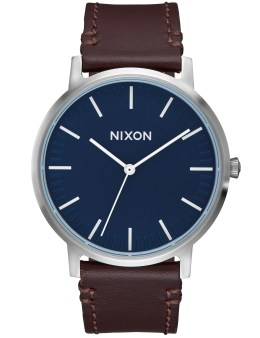 Nixon Porter Leather with Navy Dail Picture