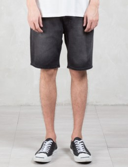 Cheap Monday Line Element Washed Denim Shorts Picture