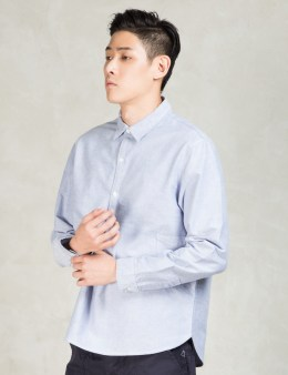 GARBSTORE Blue Oxford Cropper Shirt Picture