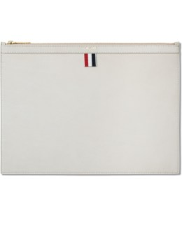 THOM BROWNE Nubuck Med Zipper Document Holder (A4) Picture