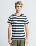 """DELUXE White/Navy """"Andrew"""" T-Shirt Picture"""