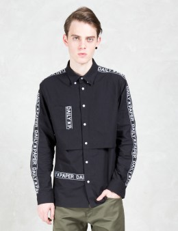Daily Paper Black Tape Logo L/S Shirt Picture