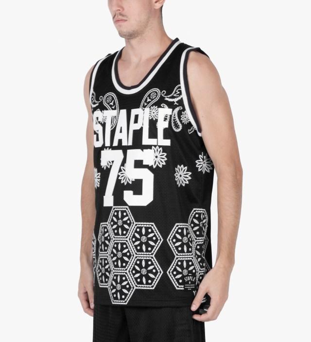 Staple Black Paisley Jersey