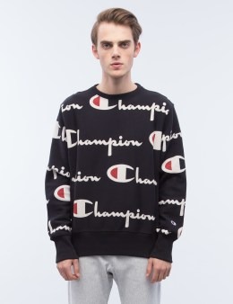 Champion Reverse Weave Overall Script Logo Sweatshirt Picture