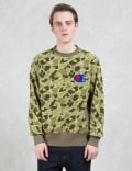 Champion Reverse Weave Applique Logo Sweatshirt Picutre