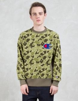 Champion Reverse Weave Applique Logo Sweatshirt Picture