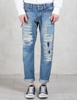 Denim by Vanquish & Fragment Five Years Wash Wide Straight Denim Pants Picture