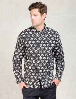 Stussy Black Mini Icon Print Shirt Picture