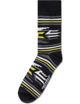 Richer Poorer Black Villager Socks Picture