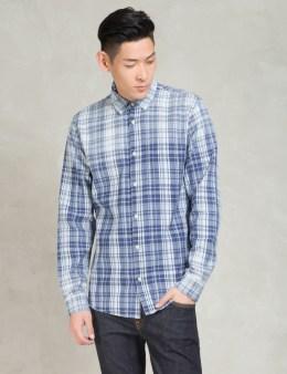Denham Indigo Tartan Pocket Shirt Picture