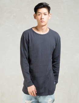 STAMPD Navy L/S Temper T-Shirt Picture