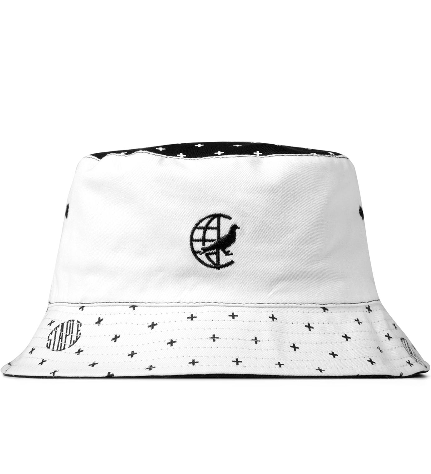 Staple White Paisley Bucket Hat