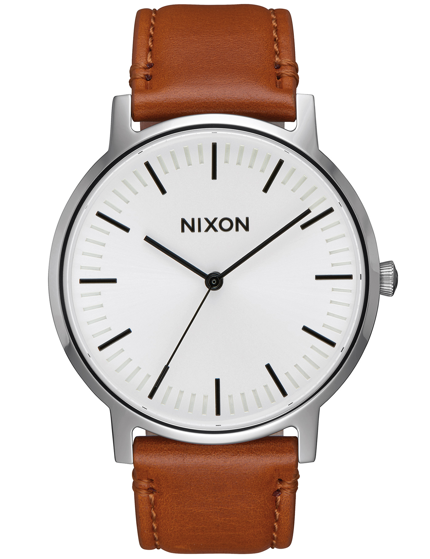nixon porter leather with white sunray hbx