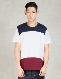 Aloye Navy Color Block S/s T-shirt Picture
