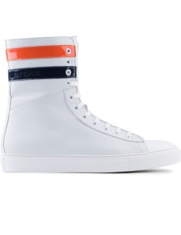 Raf Simons Extra High Sneakers With 2 Stripes Picture