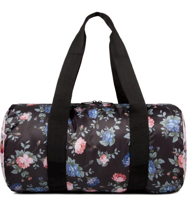 Herschel Supply Co. Black Floral/Pink Floral Packable Duffle Bag