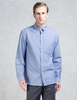 The Hill-Side Blue Selvedge Oxford  Button-down Shirt Picture