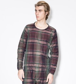 Paul Smith Purple Check Linen-Blend Sweater Picture