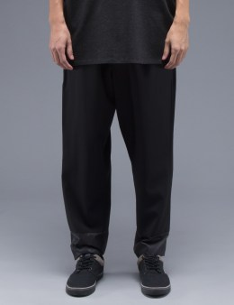 3.1 Phillip Lim Black Tapered Lounge with Combo Hem Cuff Pants Picture