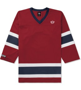 Stussy Red Mesh Hockey Jersey Picture