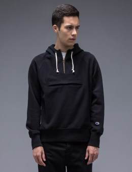 Champion Reverse Weave Half Zip Hooded Sweatshirt Picture