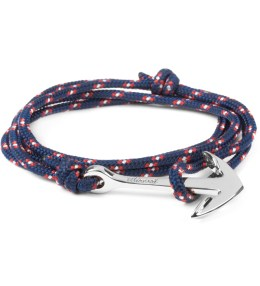 Miansai Navy Blue Silver Tone Anchor Rope Bracelet Picture