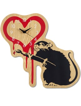 "Medicom Toy Sync.-Brandalism  x Karimoku ""Love Rat"" Wall Clock Picture"