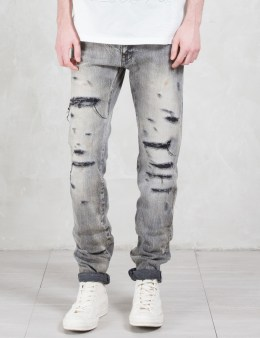 FACTOTUM Destroyed Crash Straight Jeans Picture
