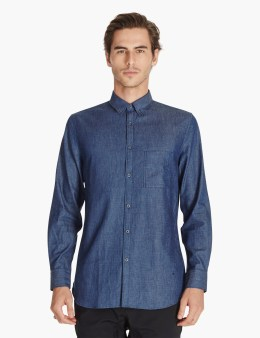 ZANEROBE Indigo Oxford 7ft L/s Shirt Picture