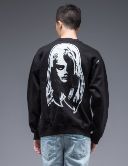 SAM by Warren Lotas Black Crewneck Sweatshirt Style E (Size M) Picture