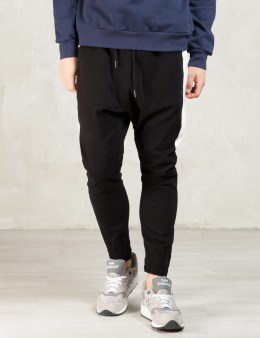 Thing Thing Black/white Half Stripe Para Pants Picture