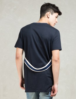 PHENOMENON Navy S/S W Rib Long T-Shirt Picture