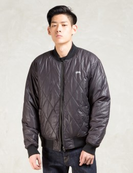 Stussy Black Easy Bomber Reversible Jacket Picture