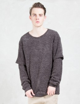 i love ugly. Otis Split Knit Sweatshirt Picture